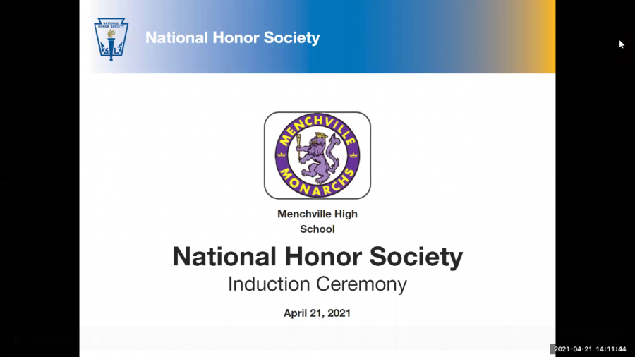 National Honor Society held their 2021 inductions Wednesday, April 21.